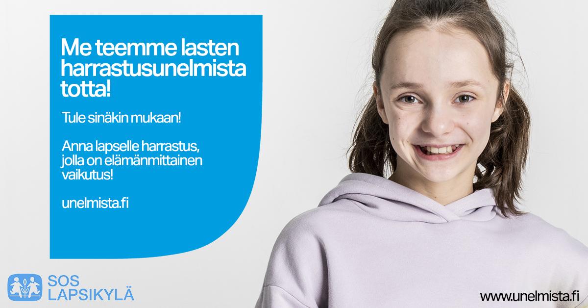SOS-Lapsikylän Unelmista totta -harrastustuki